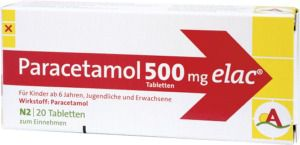PARACETAMOL 500 mg elac Tabletten